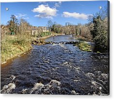 River Drowse At Kinlough, Leitrim - One Of The Best Trout And Salmon Fishing Rivers In Ireland Acrylic Print