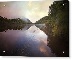 Acrylic Print featuring the photograph River Fire  by Amy Weiss