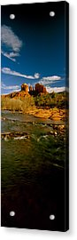 River Flowing Through Rocks, Red Rock Acrylic Print by Panoramic Images
