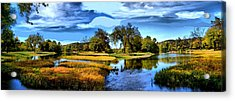 River Fork Pano Acrylic Print by Rick Friedle