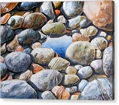 River Gems Acrylic Print