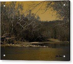 River Glow Acrylic Print