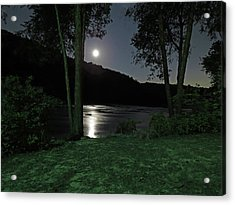 River In Moonlight Acrylic Print