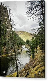 River In The Canyon Acrylic Print