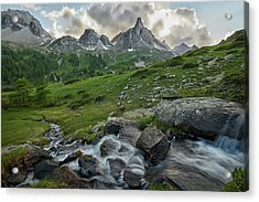 River In The French Alps Acrylic Print