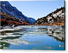River In Winter Acrylic Print by Atom Crawford