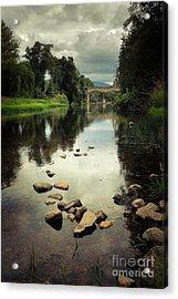 River Landscape Acrylic Print by Carlos Caetano