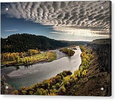 River Light Acrylic Print by Leland D Howard