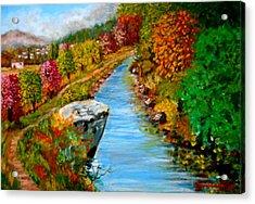 River Lousios  Acrylic Print
