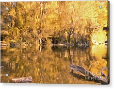 River Of Fire By Kaye Menner Acrylic Print by Kaye Menner