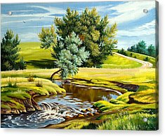 River Of Life Acrylic Print by Karen Showell