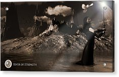 Acrylic Print featuring the digital art River Of Strength by Everett Houser