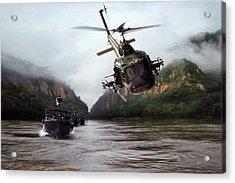 River Patrol Acrylic Print
