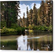 Millers Creek Painterly Acrylic Print by Peter Piatt