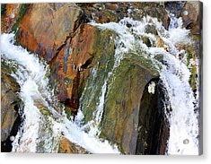 River Power Dashed Upon The Rocks Acrylic Print