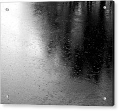 River Rain  Naperville Illinois Acrylic Print