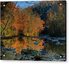 River Reflection Buffalo National River At Ponca Acrylic Print