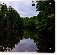 Acrylic Print featuring the digital art River Reflections by Chris Flees