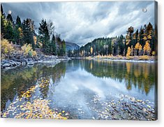 Acrylic Print featuring the photograph River Reflections by Fran Riley