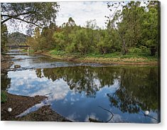 Acrylic Print featuring the photograph River Reflections by John M Bailey
