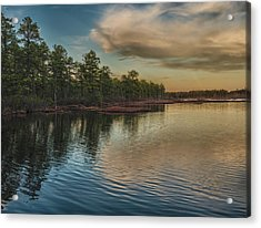River Reflections On The Mullica River Acrylic Print