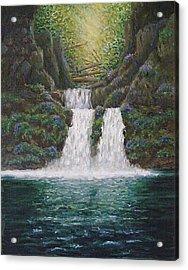 River Reverie Acrylic Print by Deborah Dallinga