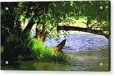 River Ripple Voices Acrylic Print by Charlie Spear