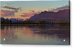 Fraser River, British Columbia Acrylic Print by Heather Vopni