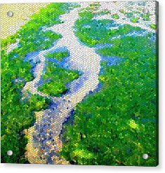 Mosaic Acrylic Print featuring the photograph River by Roberto Alamino
