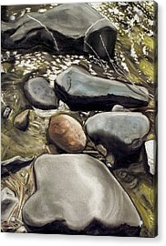 River Rock Formations Acrylic Print by Brenda Williams
