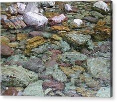 River Rocks Acrylic Print by Lisa Patti Konkol