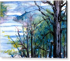 River Scene Acrylic Print by Tom Hefko