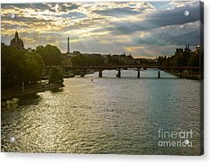 River Seine At Dusk Acrylic Print