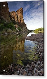 River Serenity Acrylic Print by Sue Cullumber