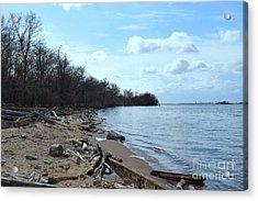 Delaware River Shoreline Acrylic Print