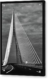 Acrylic Print featuring the photograph River Suir Bridge. by Terence Davis