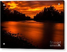River Sunset 2 Acrylic Print