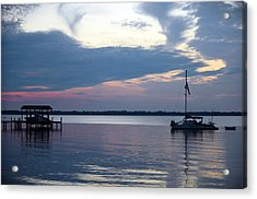 River Sunset Acrylic Print by Anthony Baatz