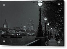 River Thames Embankment, London 2 Acrylic Print