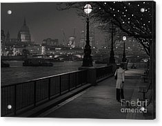 River Thames Embankment, London Acrylic Print
