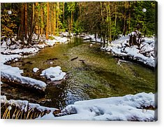 River Through Meadow Acrylic Print by Garry Gay