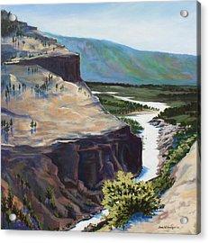 River Through The Canyon Acrylic Print