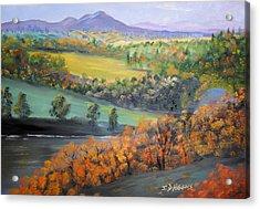 River Tweed Valley Acrylic Print