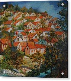 River Village Acrylic Print