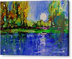 Acrylic Print featuring the painting River Walk by Priti Lathia