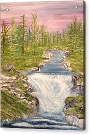 River With Falls Acrylic Print