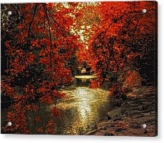 Riverbank Red Acrylic Print