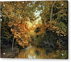 Riverbank Reflections Acrylic Print by Jessica Jenney