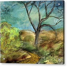Acrylic Print featuring the painting Riverbed  by Annette Berglund
