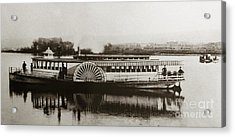 Riverboat  Mayflower Of Plymouth   Susquehanna River Near Wilkes Barre Pennsylvania Late 1800s Acrylic Print